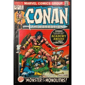 Conan the Barbarian (1970) #21 FN+ (6.5) Barry Windsor-Smith Cover and Art