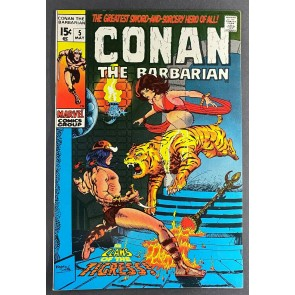 Conan the Barbarian (1970) #5 VF+ (8.5) Barry Windsor-Smith Cover and Art