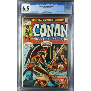 Conan the barbarian #23 CGC 6.5 OWW 1st appearance of Red Sonja|