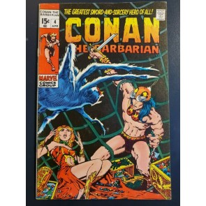 Conan the Barbarian #4 (1971) F/VF (7.0) Classic Barry Windsor Smith Art|