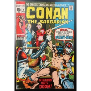 Conan the Barbarian (1970) #2 VG/FN (5.0) Barry Windsor-Smith Cover and Art