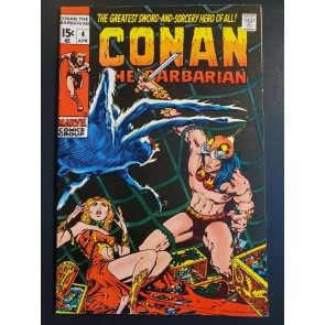 Conan the Barbarian #4 (1971) F/VF (8.5) Classic Barry Windsor Smith Art|