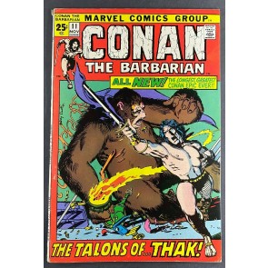 Conan the Barbarian (1970) #11 FN+ (6.5) Barry Windsor-Smith Cover and Art