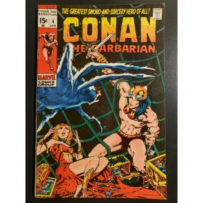 Conan the Barbarian #4 (1971) VF+ (8.5) Classic Barry Windsor Smith Art|