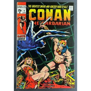 Conan the Barbarian (1970) #4 VF+ (8.5) Barry Windsor-Smith Cover/ Art