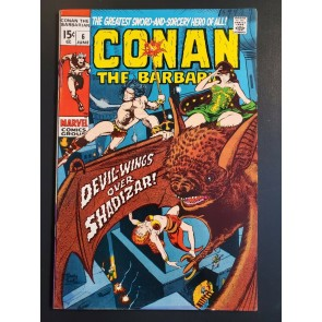 Conan the Barbarian #6 (1971) VF- (7.0) Classic Barry Windsor Smith art |