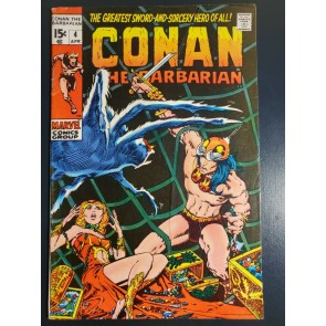 Conan the Barbarian #4 (1971) VG/F (5.0) Classic Barry Windsor Smith Art |