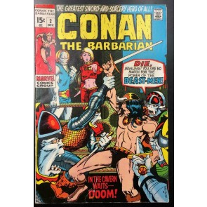 Conan the Barbarian (1970) #2 VG+ (4.5) Barry Windsor-Smith Cover and Art