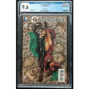 Convergence (2015) #0 CGC 9.6 White Pages Adam Hughes Variant Cover (2019913011)