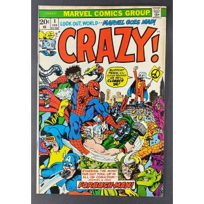Crazy (1973) #1 FN/VF (7.0) Marie Severin Cover (Reprints Not Brand Echh #8)