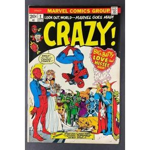 Crazy (1973) #2 VF- (7.5) Marie Severin Cover (Reprints Not Brand Echh #6)