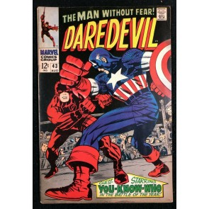 Daredevil (1964) #43 FN+ (6.5) classic Kirby Captain America battle cover