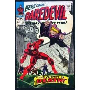 Daredevil (1964) #20 FN (6.0) vs Owl 1st Gene Colan art