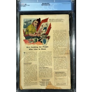 Daredevil (1964) #1 CGC graded 1.0 1st app Daredevil (1557106001)