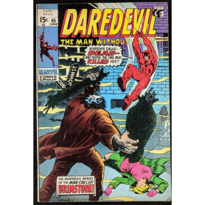 Daredevil (1964) #65 FN- (5.5)  vs Brimstone