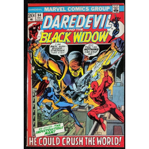 Daredevil (1964) #94 VF+ (7.5) and Black Widow vs Indestructible Man
