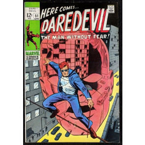 Daredevil (1964) #51 FN/VF (7.0)  Barry Smith Art