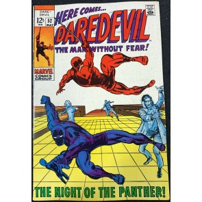 Daredevil (1964) #52 FN+ (6.5) Black Panther Cover Barry Smits