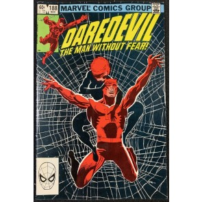 Daredevil (1964) #188 FN+ (6.5) Black Widow Cover & Story