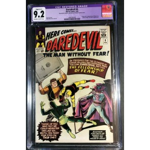 Daredevil (1964) #6 CGC APP 9.2 OW/W Pages 1st app Mr Fear (2069187002)