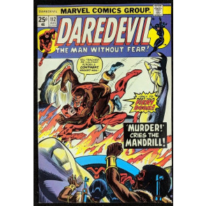 Daredevil (1964) #112 VF+ (7.5) vs Nekra Black Spectre Mandrill