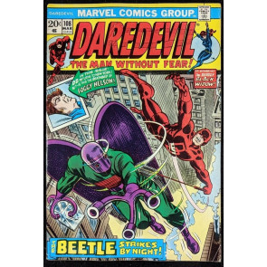 Daredevil (1964) #108 VG (4.0) vs Beetle 1st app Black Spectre