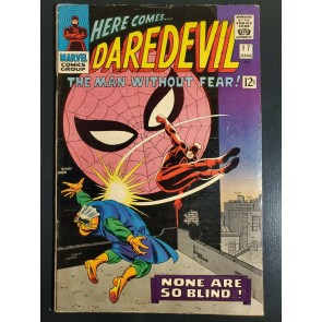 Daredevil #17 (1966) FN+ (6.5) early Spider-Man cross-over Stan Lee John Romita|