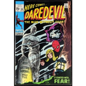 Daredevil (1964) #54 FN+ (6.5)  vs Mr. Fear  Spider-Man cameo & cover