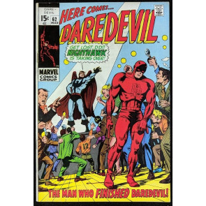 Daredevil (1964) #62 FN+ (6.5)  Origin Nighthawk