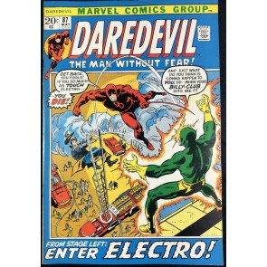 Daredevil (1964) with Black Widow #87 VF- (7.5) Electro Cover and Story