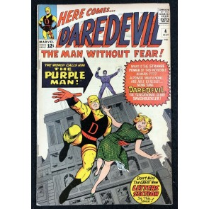 Daredevil (1964) #4 VF- (7.5) 1st app Killgrave The Purple Man