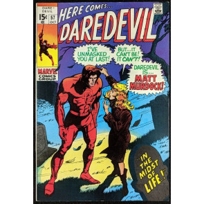Daredevil (1964) #57 FN/VF (7.0)  Identity revealed to Karen Page