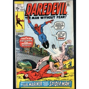 Daredevil (1964) #77 FN+ (6.5) Spider-Man Sub-Mariner Battle Cover