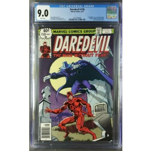 DAREDEVIL #158 CGC 9.0 WHITE 1ST FRANK MILLER RUN BEGINS |