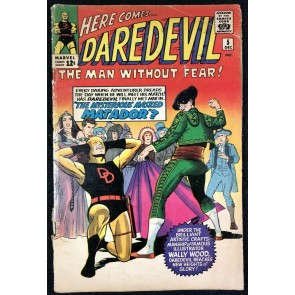 Daredevil (1964) #5 GD (2.0) original black and yellow costume Wally Wood art