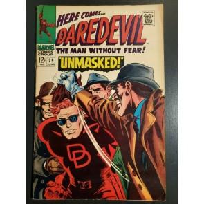 """Daredevil #29 (1967) FVF (7.0) """"UNMASKED!"""" - Stan Lee Story """