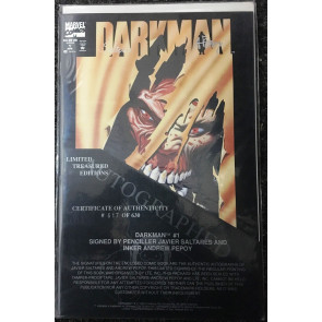 Darkman (1993) #1 signed by Javier Saltares & Andrew Pepoy limited to only 630