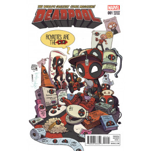 Deadpool (2015) #1 VF/NM 1:50 Katie Cook Variant Cover