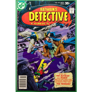 Detective Comics (1937) 473 VF+ (8.5) Batman vs Penguin Marshall Rogers