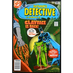 DETECTIVE COMICS #478 VF 1ST APPEARANCE 3RD CLAYFACE