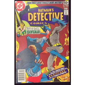 DETECTIVE COMICS #479 VF+ CLAYFACE HAWKMAN MARSHALL ROGERS ART