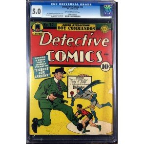 Detective Comics (1937) #72 CGC 5.0 Batman & Robin cover (0987289001)