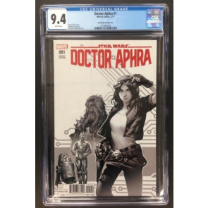 Doctor Aphra (2017) #1 CGC 9.4 White Pages Sketch Cover Star Wars (1215897002)