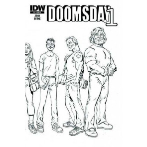 DOOMSDAY.1 #1 VF/NM SKETCH VARIANT COVER JOHN BYRNE IDW
