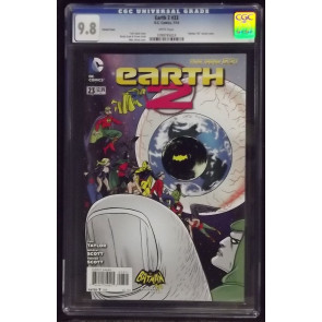 EARTH 2 #23 CGC GRADED 9.8 MIKE ALLRED BATMAN '66 VARIANT COVER