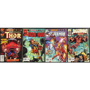 Eighth Day (1999) 4 part set VF/NM (9.0) Thor Spider-Man Iron Man Juggernaut #1