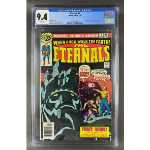 Eternals (1976) #1 CGC 9.4 White Pages Origin/1st App Eternals (2064765004)