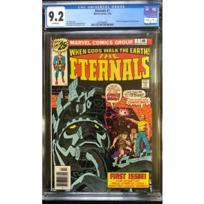 Eternals (1976) #1 CGC 9.2 White Pages 1st app & Origin Eternals (2071448007)