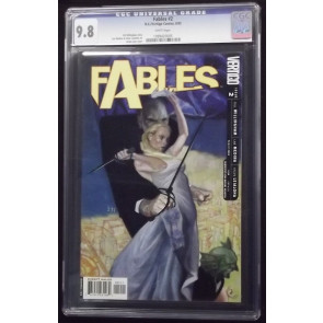 FABLES #2 CGC GRADED 9.8 WHITE PAGES JAMES JEAN COVER VERTIGO