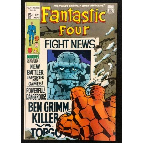 Fantastic Four (1961) #92 VF+ (8.5) Torgo Jack Kirby Cover Art
